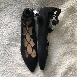 ShoeDazzle Black Flats